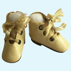 Tiny Oilcloth Doll Boots