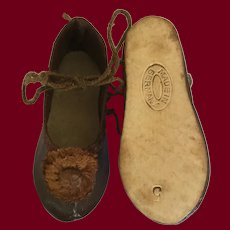 German Doll Shoes Marked 5
