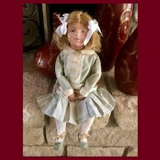 """Pouty Schoenhut Doll 19"""" —This item is 20% off for the month of July"""