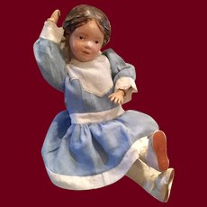 """Schoenhut Carved Braided Hair Doll 14"""" —This item is 20% off for the month of July"""