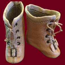 Tan Leather Doll Boots