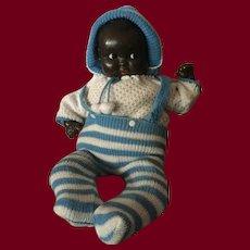 "Black German Baby Doll with Flirty Eyes 16"""