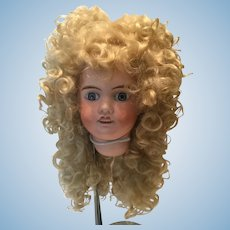 Long Curly Blonde Mohair Wig with Tails