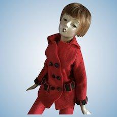 "Cubeb  Boudoir Smoker Doll 25""  circa 1920's  Original Pantsuit"