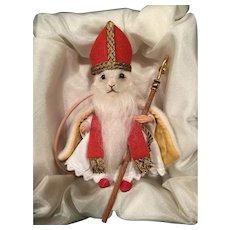 "R. John Wright 2016 Christmas Mouse ""St. Nicholas"". #169"