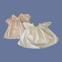 Two Vintage Doll Dresses