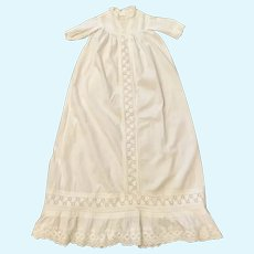 "Very Long White Cotton Doll Dress measuring 38"" long"