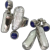 Really Smart Modernist Ring and Earring Set by Jidic