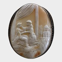 Gorgeous Cameo Depicting the Legend of Alhambra, Ferdinand and Isabella