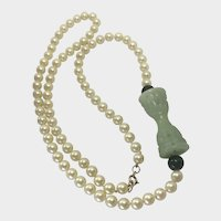 Handsome Vintage Hobe Majorca Pearl Necklace