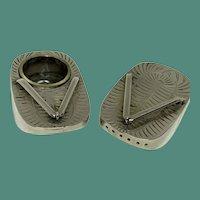 Japanese Sterling Geta Salt and Pepper Shakers, silver flip flops
