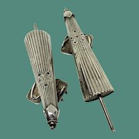 Japanese Parasol Sterling Silver Salt and Pepper Shakers