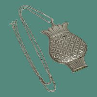 Towle Sterling Pineapple Whistle Pendant Necklace