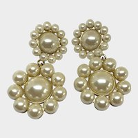 Ann Taylor Grand Gala Faux Pearl Drop Earrings