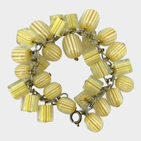 Sunny Lemon Yellow Lucite Cha-Cha Bracelet