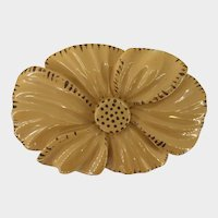 Delicious Bakelite Butterscotch Hand Carved Flower Brooch