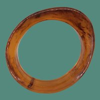 Unique Vintage Rootbeer Bakelite Oval Bangle