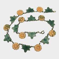 Falling Leaves Enamel Deco Necklace