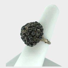 Vintage Black Star Sapphire Princess Ring