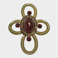 Bold and Beautiful Old Hobe Brooch Pendant