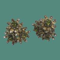 Vintage Miriam Haskell Clip Earrings