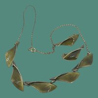 Mid Mod Albert Scharning of Norway Enamel Necklace and Earring Set