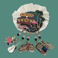 Peachy Keen Vintage Moulin Rouge Brooch Pin