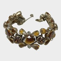 Luxurious Caramel Rhinestone Vintage Bracelet
