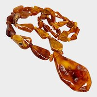 Chunky Baltic Amber Long Necklace