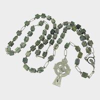Beautiful Connemara Marble Rosary by Erin