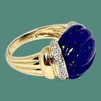 Lapis Lazuli Diamond Ring, Size 6.5