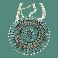 Intricately Marvelous Petit Point Pendant by A. & O. Seowtewa