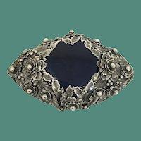 Elegant Vintage Sterling Floral Brooch Pin by Hobe