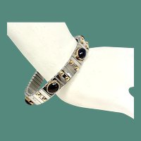 Expandable Garnet and Amethyst Two Tone Bracelet by Nomination