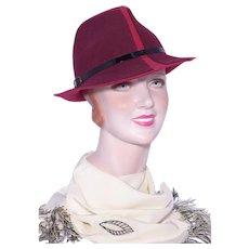 1990s Wool Felt Fedora Hat Sold at Nordstrom
