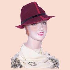 560780e22dd700 1950/60s United Hatters ~ Plaid Wool Unisex Fedora Hat : Kitsch ...