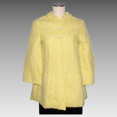 Vintage 1950s Yellow Lounging Jacket Tommies Styled by Harry Berger