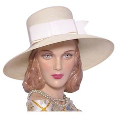 Vintage 1960s Christine Original Wide Brim Straw Hat