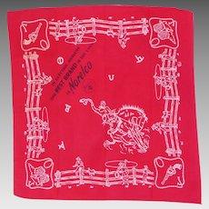 Vintage 1950s Norelco Bandana Neckerchief Handkerchief Western Cowboys