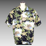 Hilo Hattie Hawaiian Aloha Print Shirt 1990s Made in Hawaii