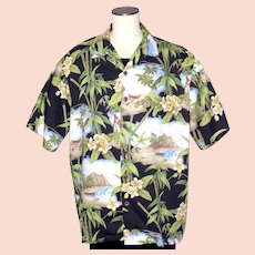 94db53dc Hilo Hattie Hawaiian Aloha Print Shirt 1990s Made in Hawaii