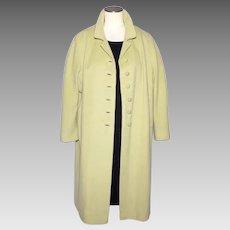Vintage 1960s Cashmere Mink Blend Coat by Elegant Fashions
