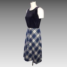 Vintage 1970s Jackfin Wool Plaid Skirt