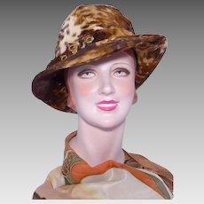 Vintage 1970s Mr John Jr Faux Fur Hat Safari Style