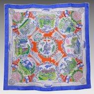 Vintage 1950s St Louis Silk Souvenir Scarf