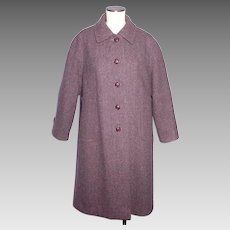 Vintage 1960s-70s Welsh Tweed Wool Coat Forstmann