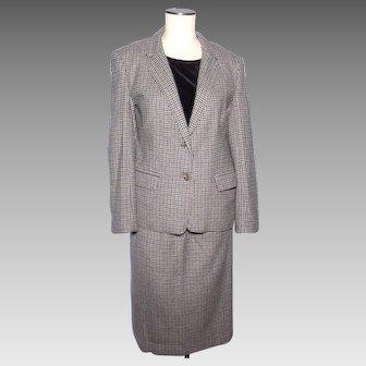 Vintage 1980s Cashmere Tweed Suit Crombie Scotland