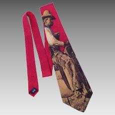 Polo by Ralph Lauren Old West Cowboy Print Silk Tie Necktie for Nordstrom