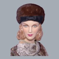 Vintage 1960s Adolfo II Mink Fur Pillbox Hat