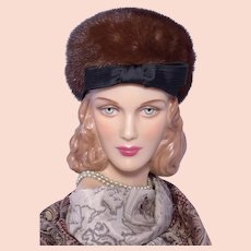 38e3478966e7c Mr. D Genuine Fur Pillbox Hat. Beautifully Styled. Chic. Brown and ...